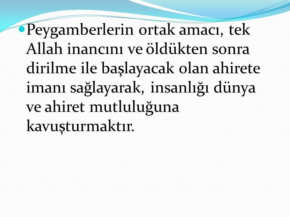 Hz.Muhammed (s), Allah'ın gönderdiği peygamberlerin sonuncusudur.