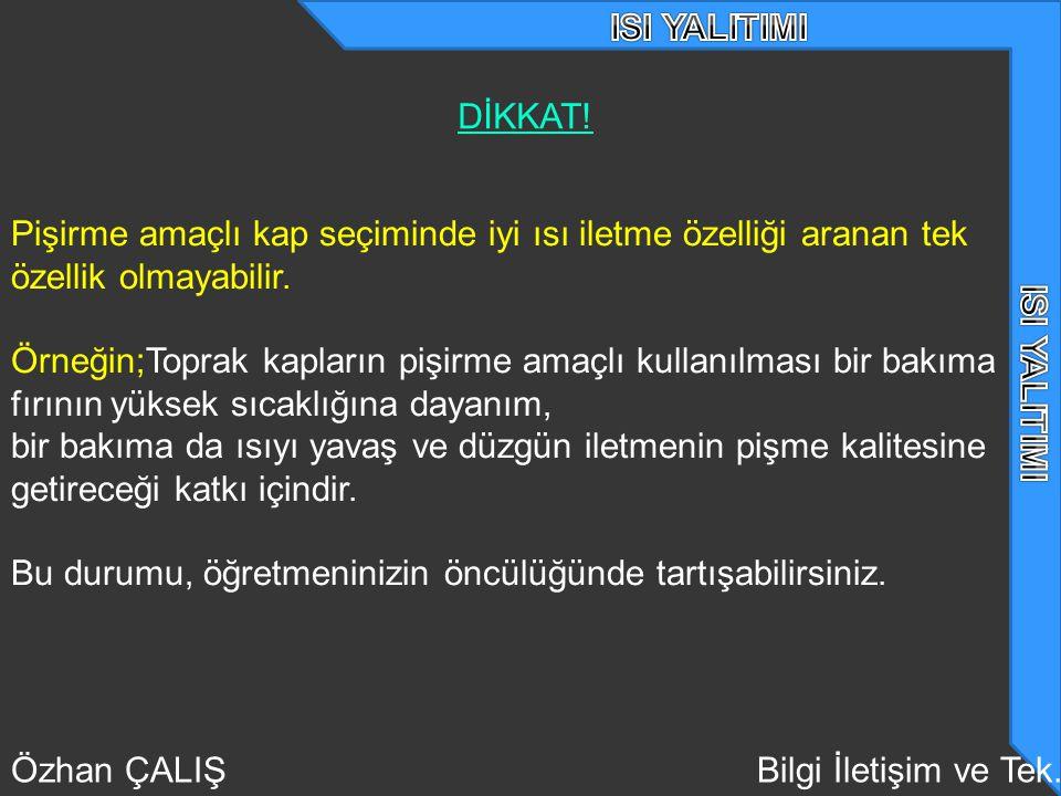 Özhan ÇALIŞBilgi İletişim ve Tek.DİKKAT.
