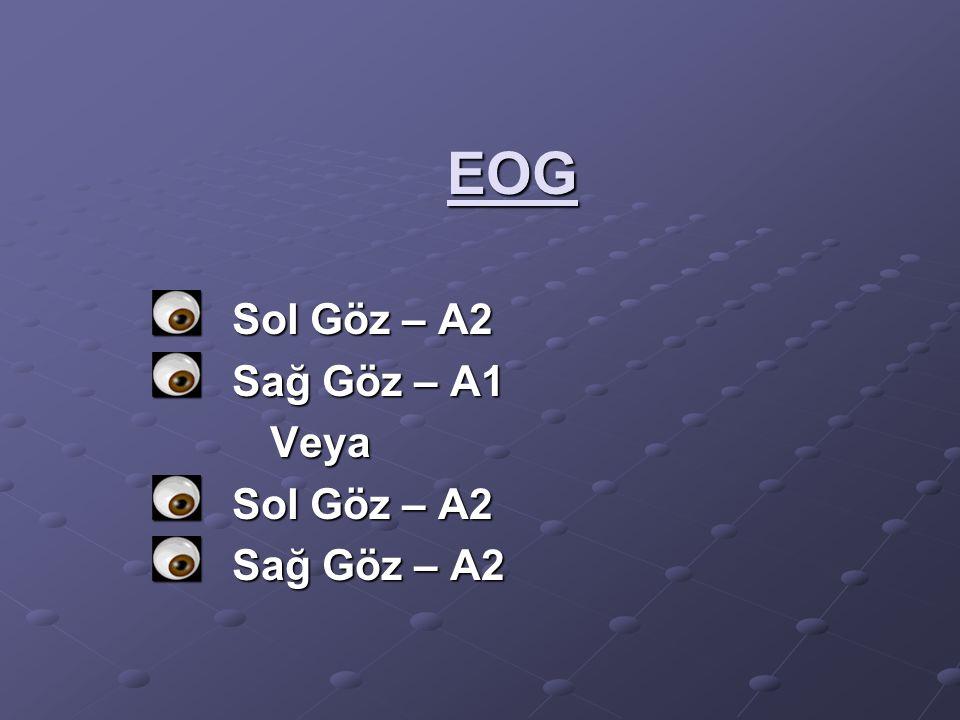 EOG Sol Göz – A2 Sağ Göz – A1 Veya Veya Sol Göz – A2 Sağ Göz – A2