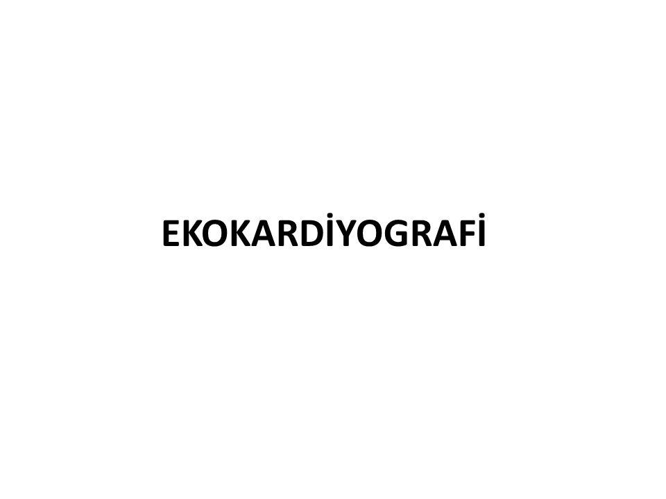 EKOKARDİYOGRAFİ