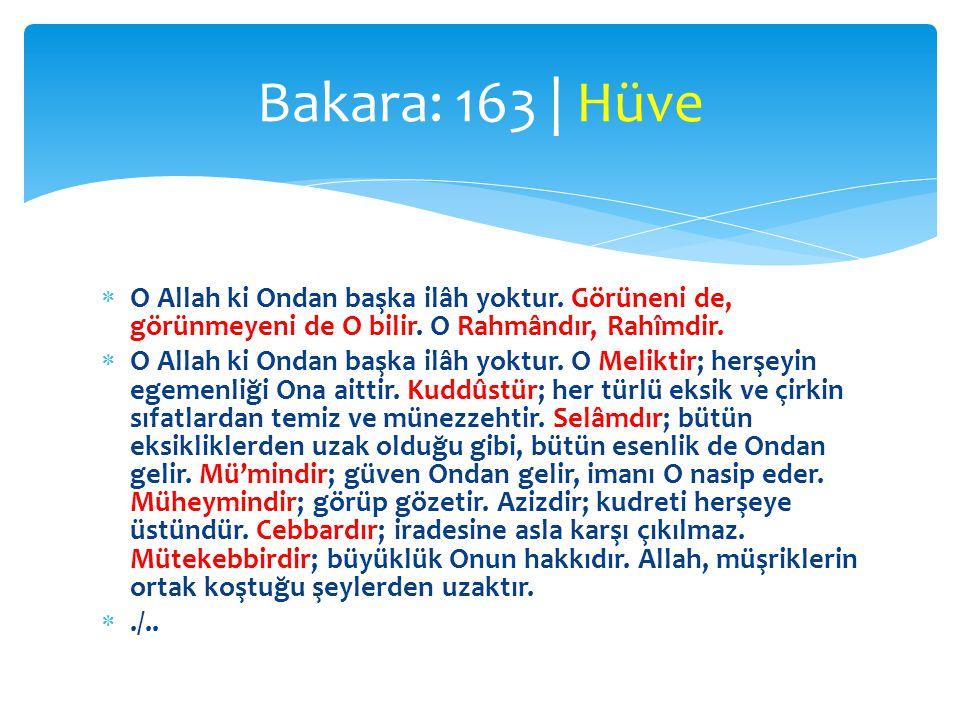  O Allah ki Ondan başka ilâh yoktur.Görüneni de, görünmeyeni de O bilir.