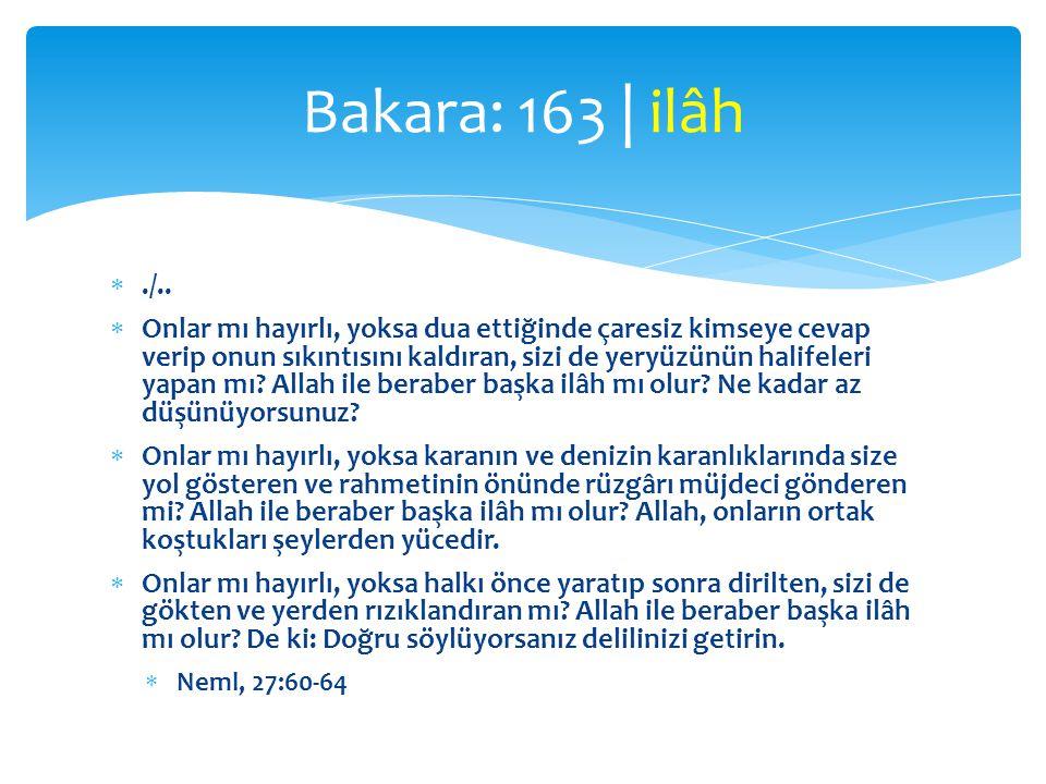 ./..  Onlar mı hayırlı, yoksa dua ettiğinde çaresiz kimseye cevap verip onun sıkıntısını kaldıran, sizi de yeryüzünün halifeleri yapan mı? Allah ile