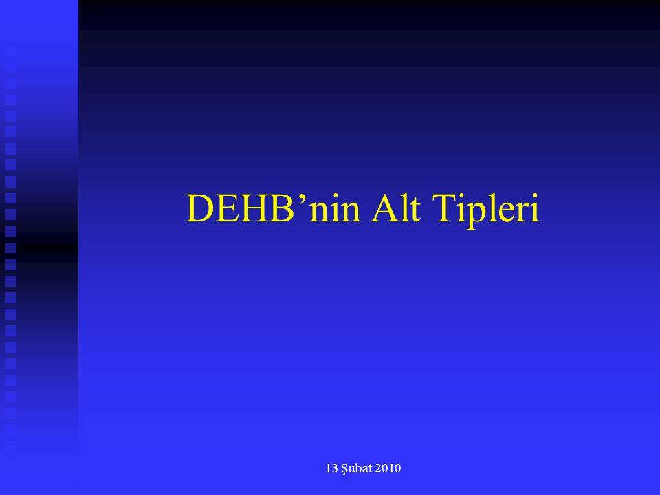 13 Şubat 2010 DEHB'nin Alt Tipleri
