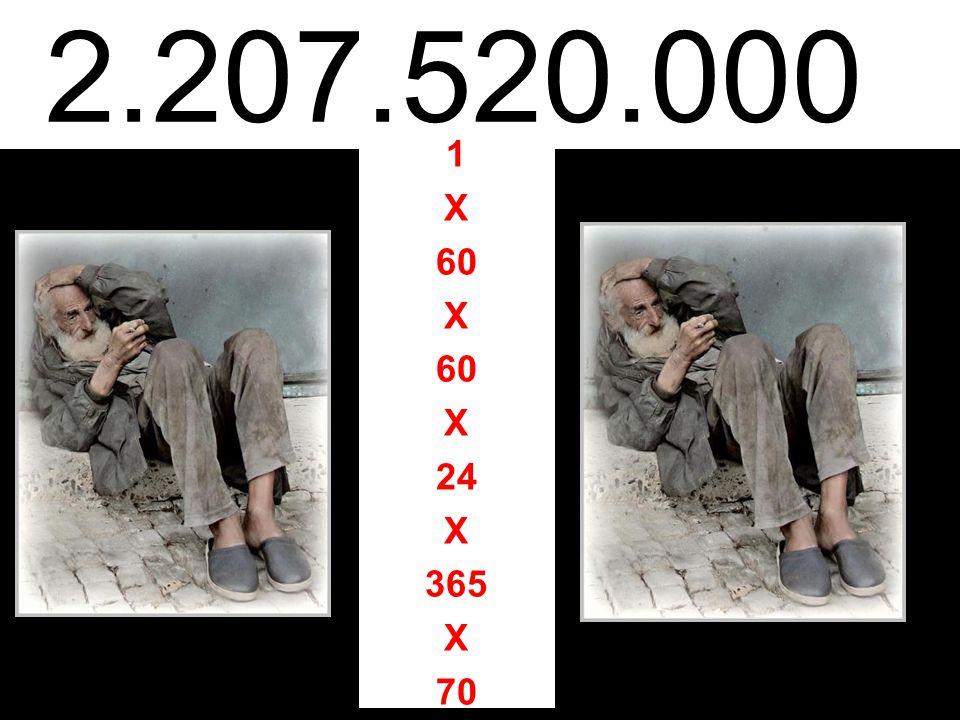 2.207.520.000 1 X 60 X X 24 X 365 X 70