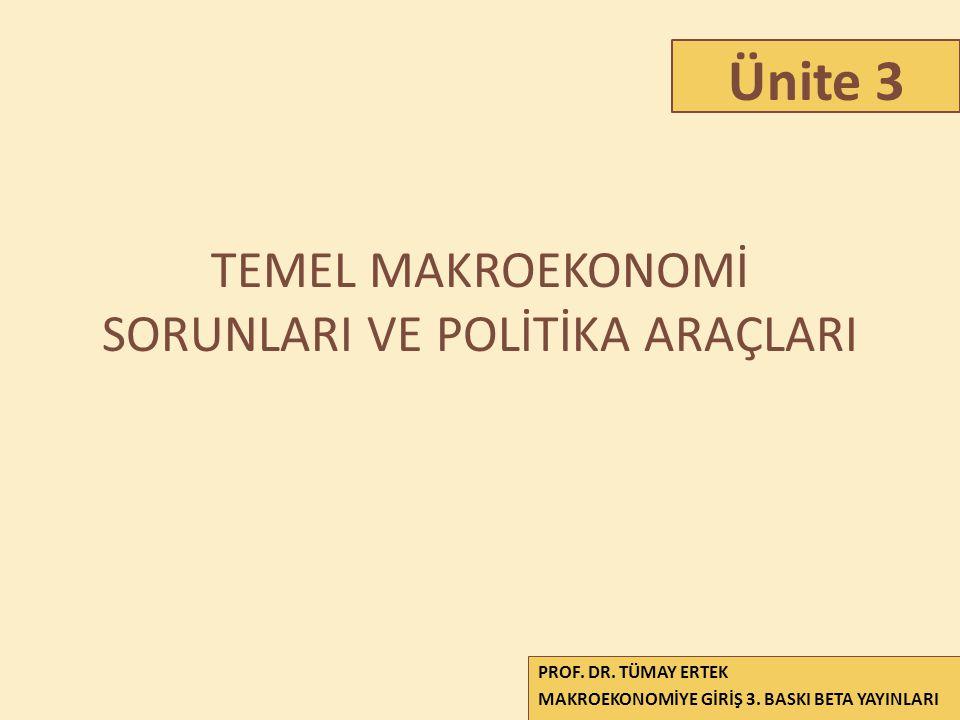 TEMEL MAKROEKONOMİ SORUNLARI VE POLİTİKA ARAÇLARI 1 PROF.
