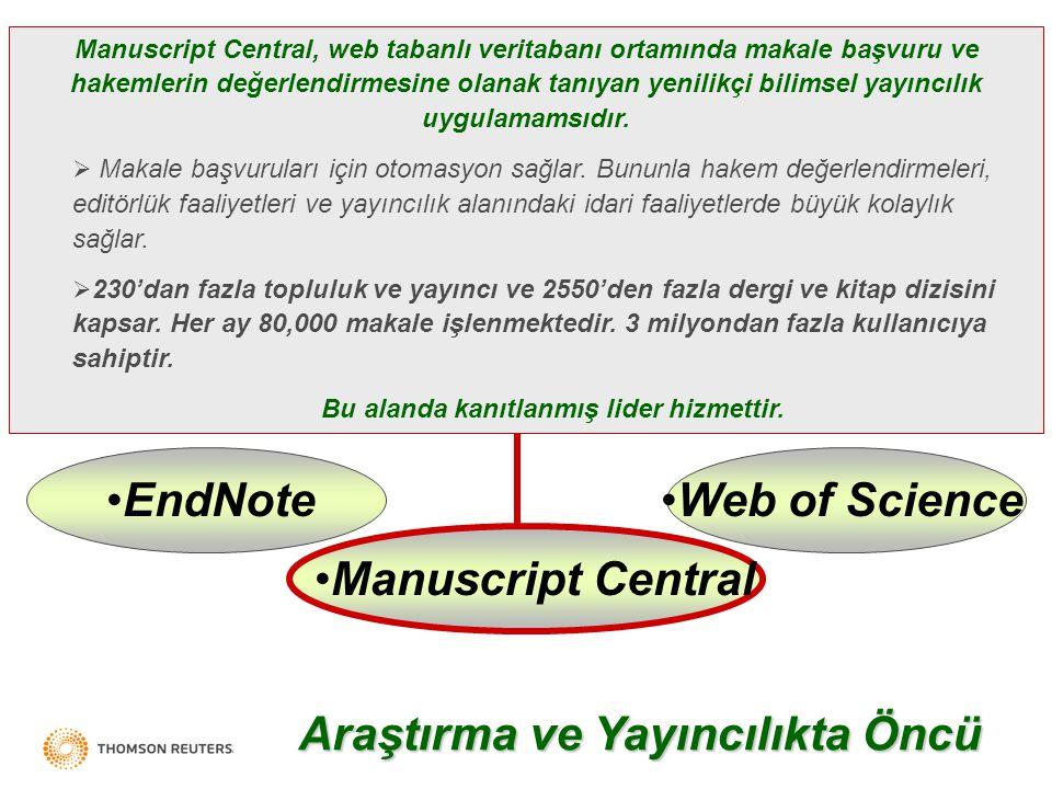 Analiz Sonuçlar Arama Web of Science ®