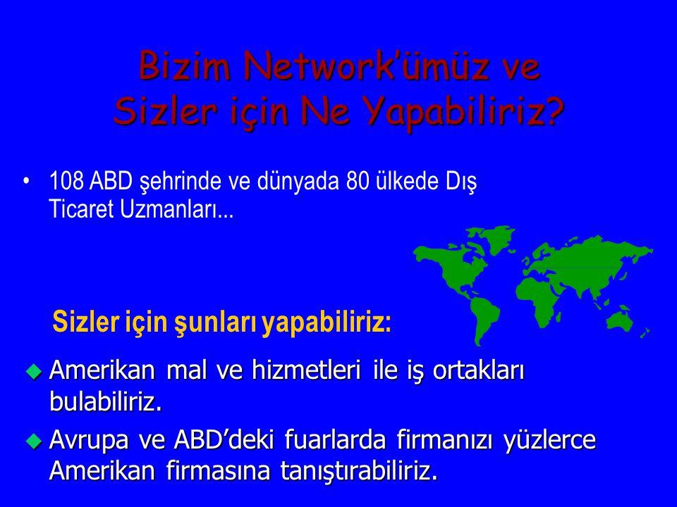 ABD Büyükelçiliği Ticaret Müsteşarlığı u u Amerikan Büyükelçiliği Ankara u u Tel: 312-467-0949 u u Amerikan Başkonsolosluğu Istanbul u u Tel: 212-335-9040 u u İzmir Ticaret Odası u u Tel: 232-441-2446 u u www.buyusa.gov/turkey www.buyusa.gov/turkey
