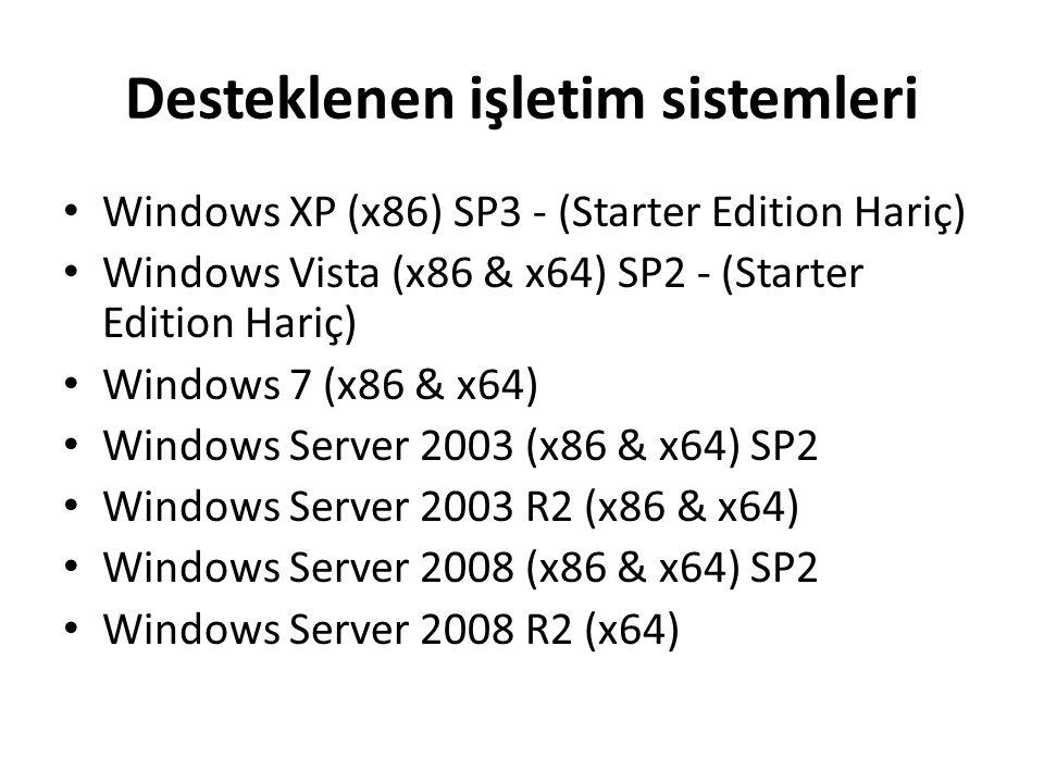 Programı Başlatma Başlat –  Tüm Programlar  Microsoft Visual Studio 2010 Express –  Microsoft Visual C# 2010 Express – Tıklayarak programı başlatabilirsiniz.