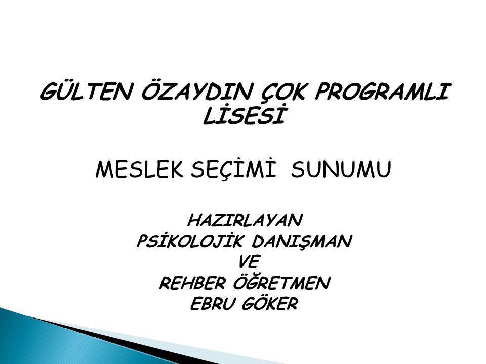 Meslek eğitimi, ortaöğretimde Anadolu Ticaret ve Ticaret Meslek Liselerinde verilmektedir.