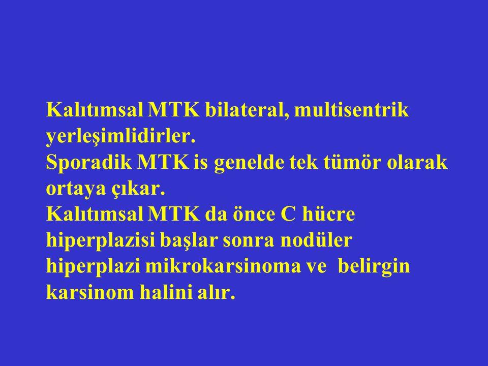Klinik MTK nın ilk belirtisi tiroidde soliter nodül ve/veya boyunda ele gelen kitledir.
