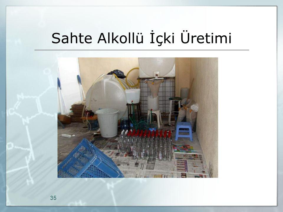 Sahte Alkollü İçki Üretimi 35