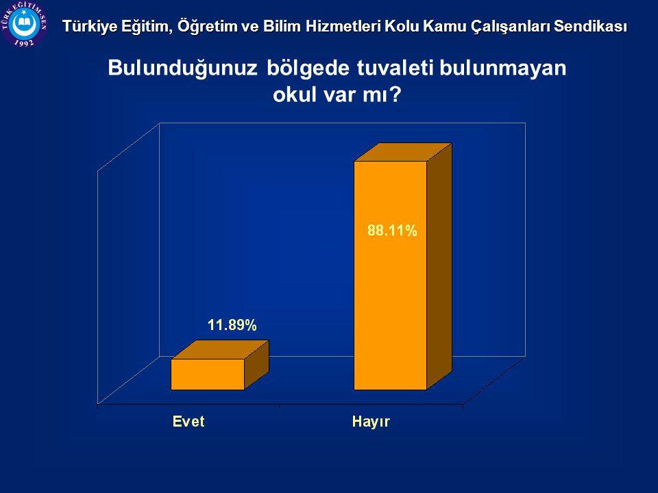 Türkiye Eğitim, Öğretim ve Bilim Hizmetleri Kolu Kamu Çalışanları Sendikası Bulunduğunuz bölgede tuvaleti bulunmayan okul var mı