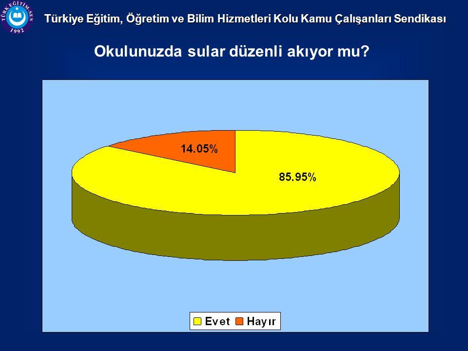 Türkiye Eğitim, Öğretim ve Bilim Hizmetleri Kolu Kamu Çalışanları Sendikası Okulunuzda sular düzenli akıyor mu