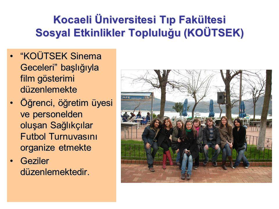"""Kocaeli Üniversitesi Tıp Fakültesi Sosyal Etkinlikler Topluluğu (KOÜTSEK) """"KOÜTSEK Sinema Geceleri"""" başlığıyla film gösterimi düzenlemekte""""KOÜTSEK Sin"""
