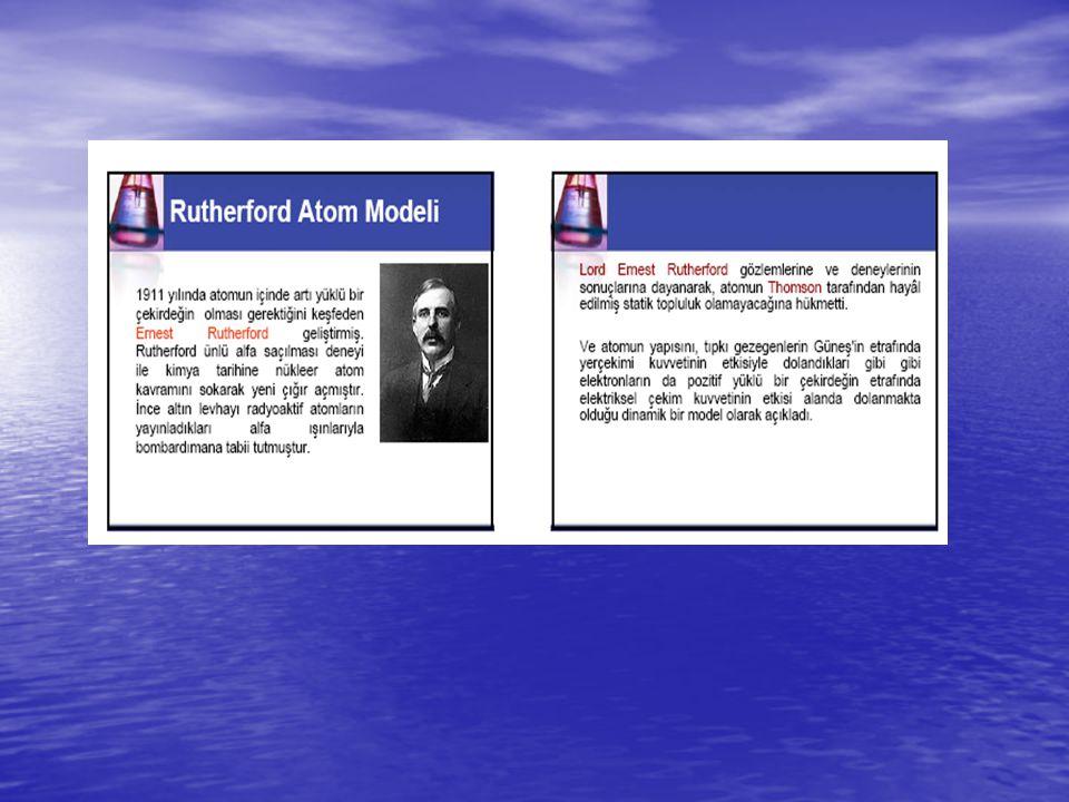 Modern atom teorisini kısaca şu şekilde özetleyebiliriz: Atomda belirli bir enerji düzeyi vardır.