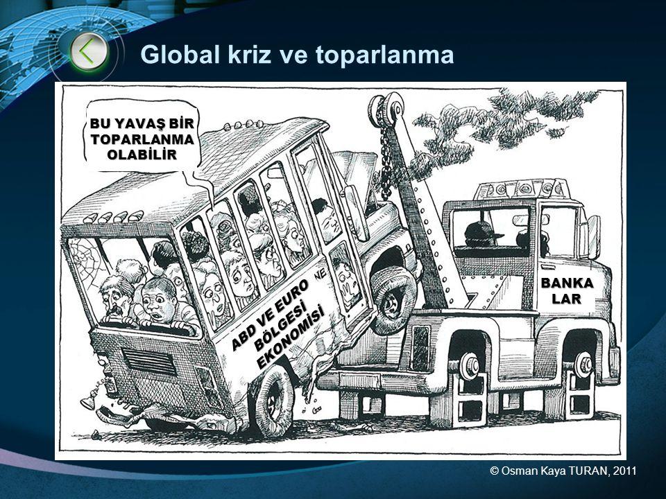 © Osman Kaya TURAN, 2011 Global kriz ve toparlanma BU YAVAŞ BİR TOPARLANMA OLABİLİR ABD VE EURO BÖLGESİ EKONOMİSİ BANKA LAR