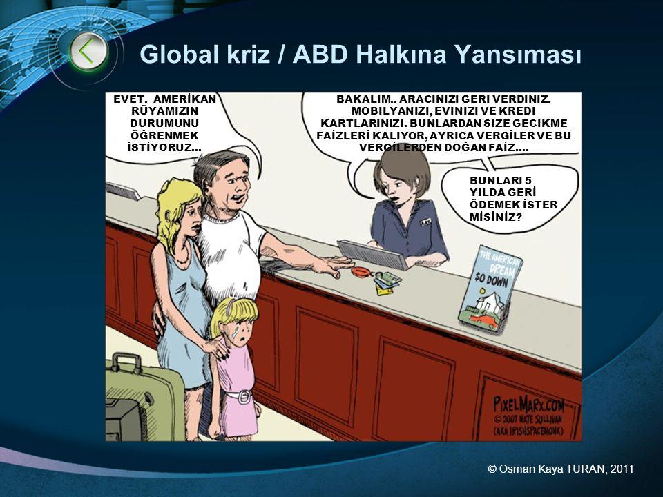 © Osman Kaya TURAN, 2011 Global Ekonomik Göstergeler GSYİH Gelişimi GSYİH = tüketim + yatırım + devlet harcamaları + (ihracat - ithalat) Sanayi üretimi göstergeleri Kaynak: OECD & Bloomberg