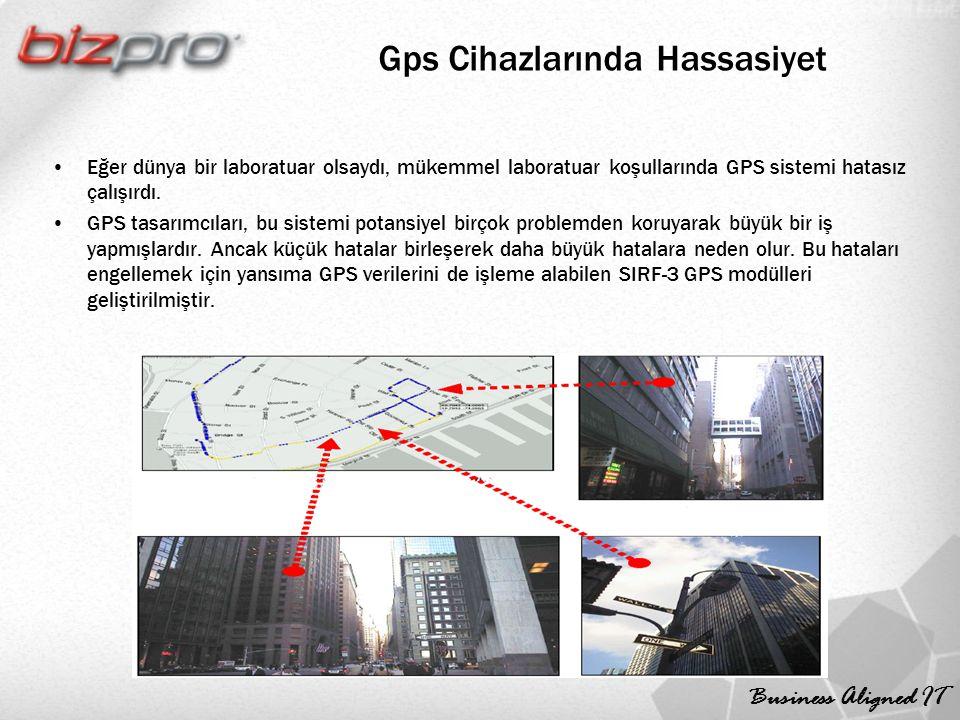 Business Aligned IT Gps Cihazlarında Hassasiyet Eğer dünya bir laboratuar olsaydı, mükemmel laboratuar koşullarında GPS sistemi hatasız çalışırdı.