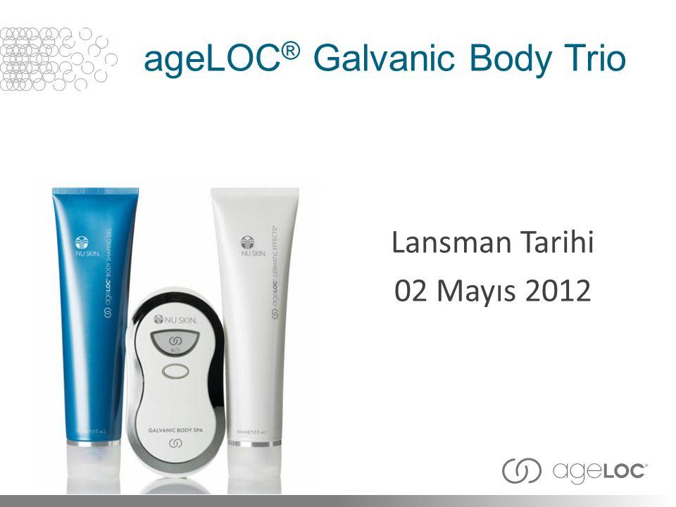 ageLOC ® Galvanic Body Trio Lansman Tarihi 02 Mayıs 2012