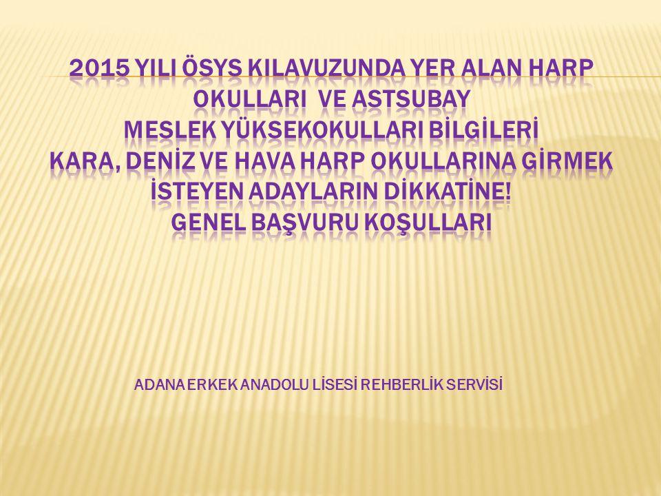 ADANA ERKEK ANADOLU LİSESİ REHBERLİK SERVİSİ