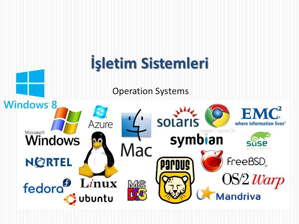 İşletim Sistemleri Operation Systems