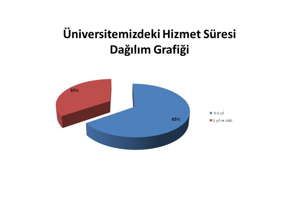 Üniversitemizdeki Hizmet Süresi Dağılım Grafiği