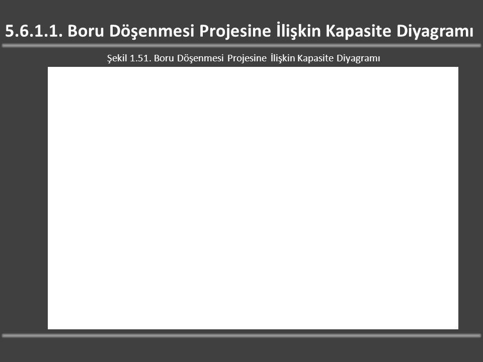 5.6.1.1. Boru Döşenmesi Projesine İlişkin Kapasite Diyagramı Şekil 1.51. Boru Döşenmesi Projesine İlişkin Kapasite Diyagramı