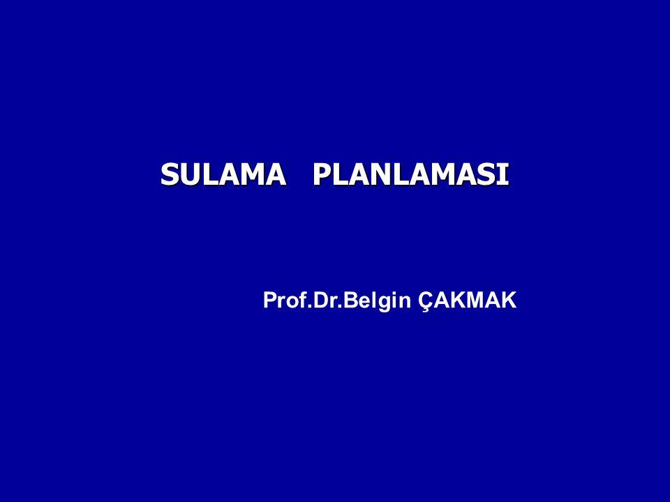 SULAMA PLANLAMASI Prof.Dr.Belgin ÇAKMAK