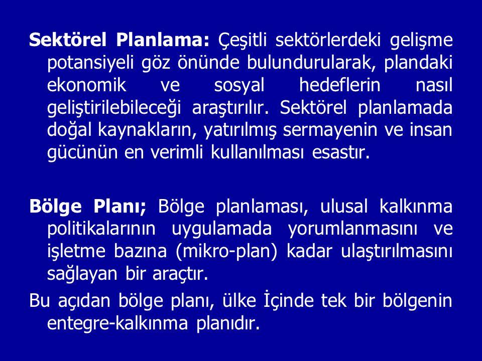 4 ) Planlama: Bu kademedeki planlamaya kapsamlı, fizibilite ya da yatırım öncesi planlama adı da verilir.