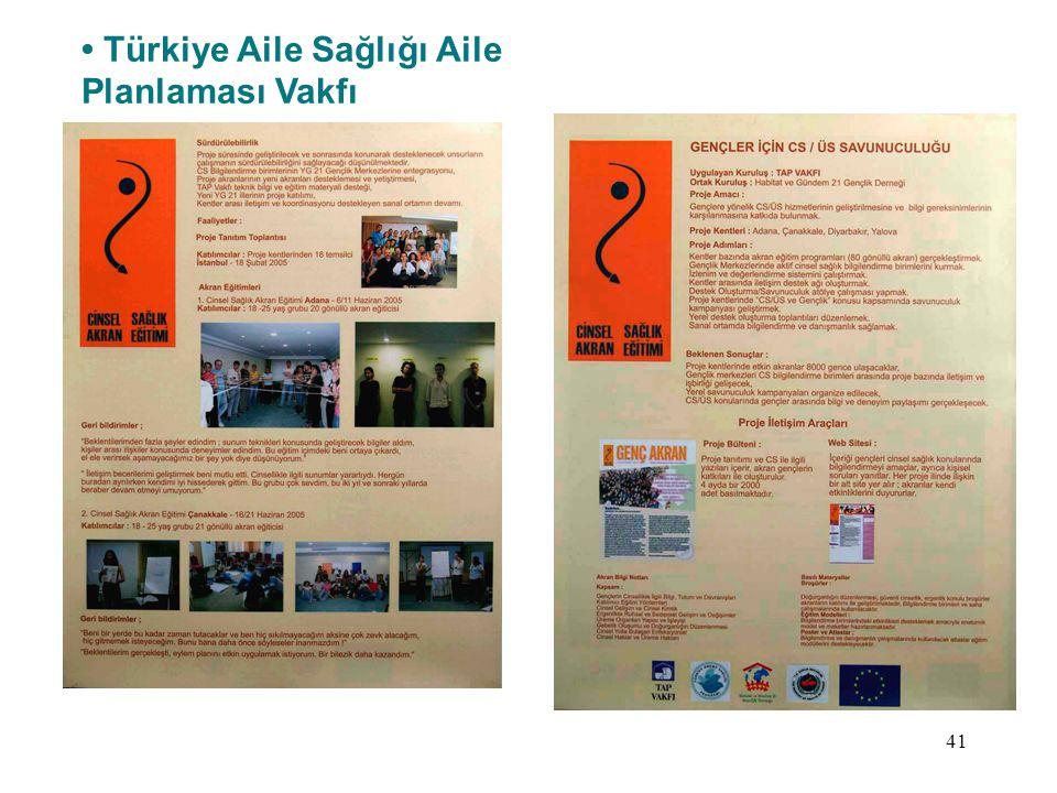 41 Türkiye Aile Sağlığı Aile Planlaması Vakfı