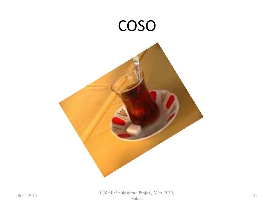 COSO 06.04.201517 KMYKG Eşleştirme Projesi, Mart 2010, Ankara