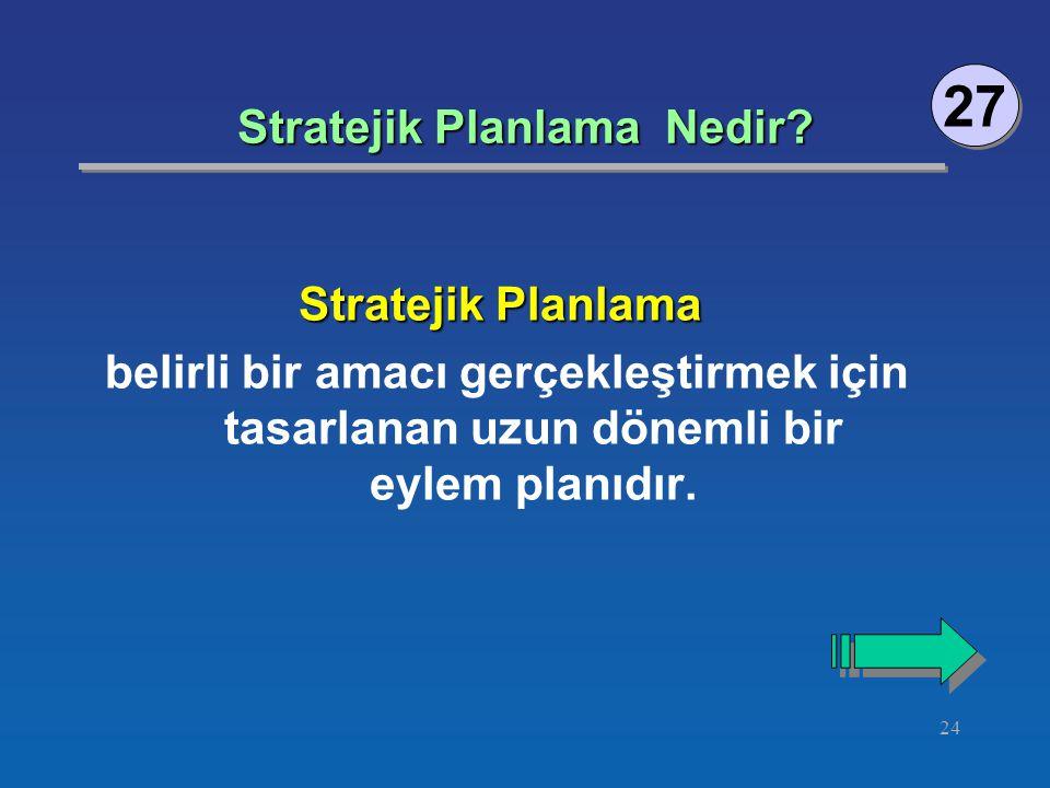 24 Stratejik Planlama Nedir.