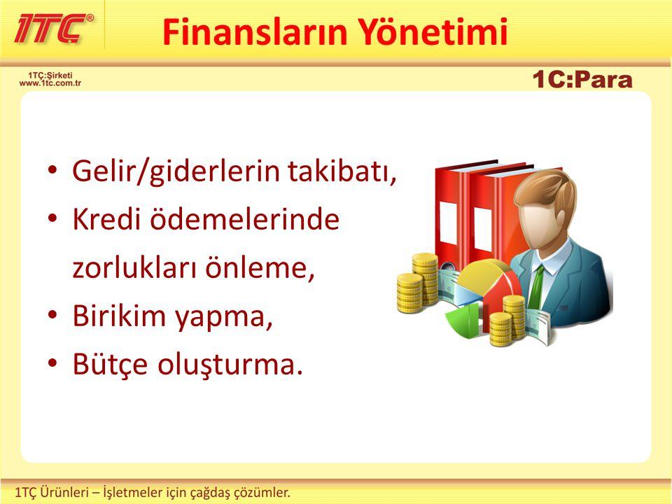 Kişisel ve aile finansların yönetimi Birikim Borç GELİRGİDER 1C:Para