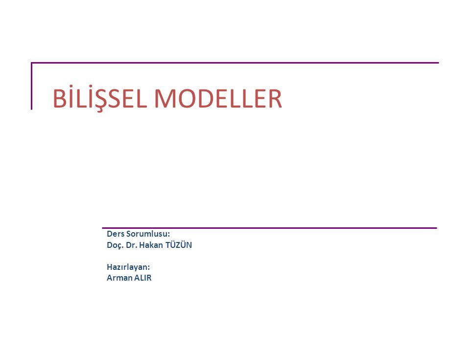 Mimari Modeller (1) Hiyerarşik modeller, dilsel modeller ve fiziksel cihaz modelleri;  insan zihni hakkında tahminlerde bulunur,  kullanıcı için etkili ve hatasız bir diyalog sağlamayı amaçlar.
