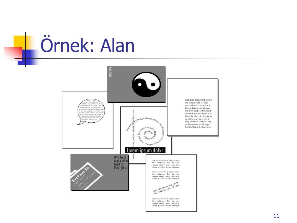 11 Örnek: Alan