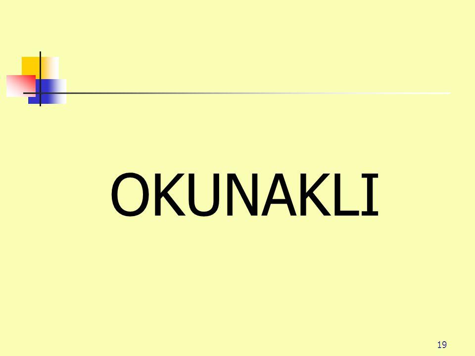 19 OKUNAKLI