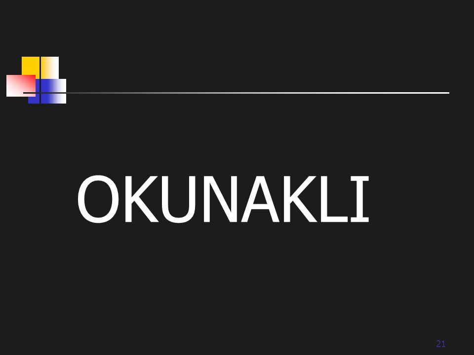21 OKUNAKLI