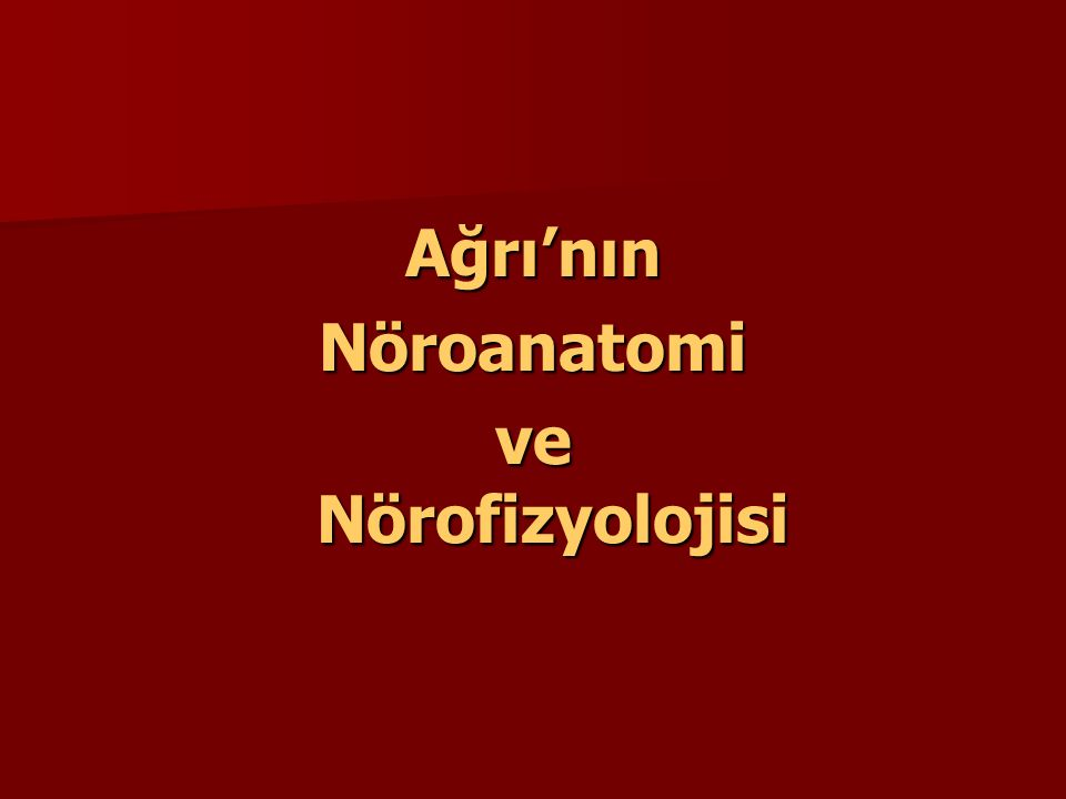 WHO- Üç basamaklı merdiven 1.Non-opioidler (non-steroidler, antipiretikler) 2.