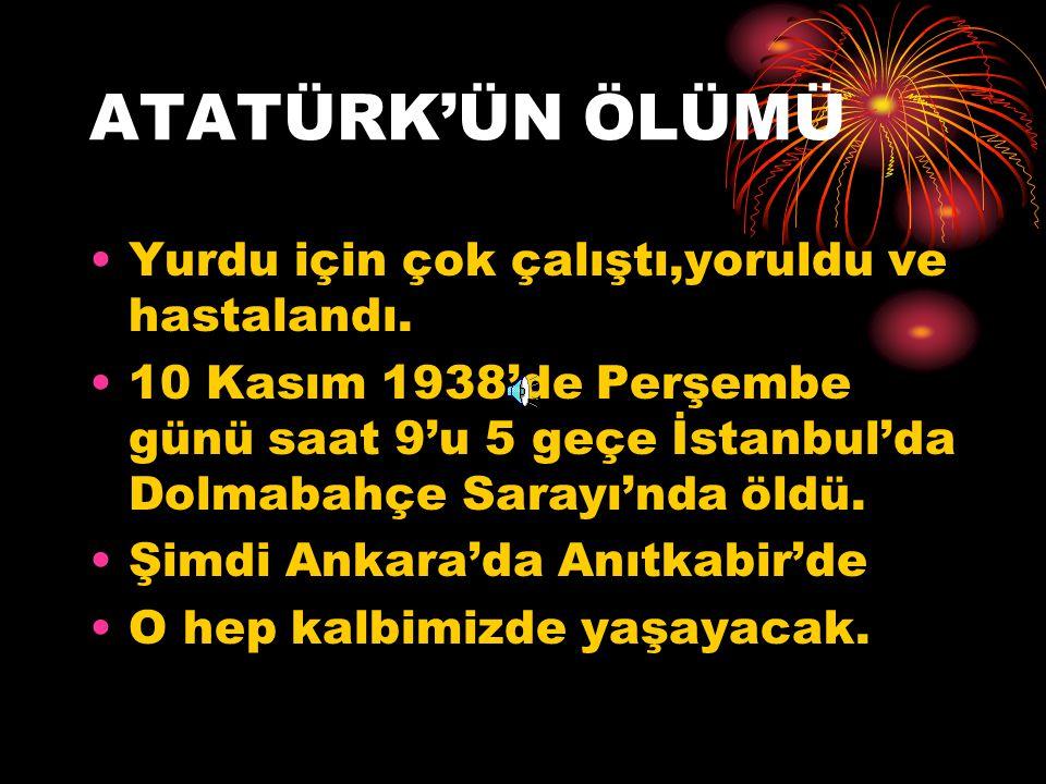 ATATÜRK DEVRİMLERİ Din ve devlet işlerini ayırdı. Yeni Türk Alfabesi kabul edildi. Kılık kıyafette değişiklik yapıldı. 'Soyadı Kanunu' çıkarıldı. Hast