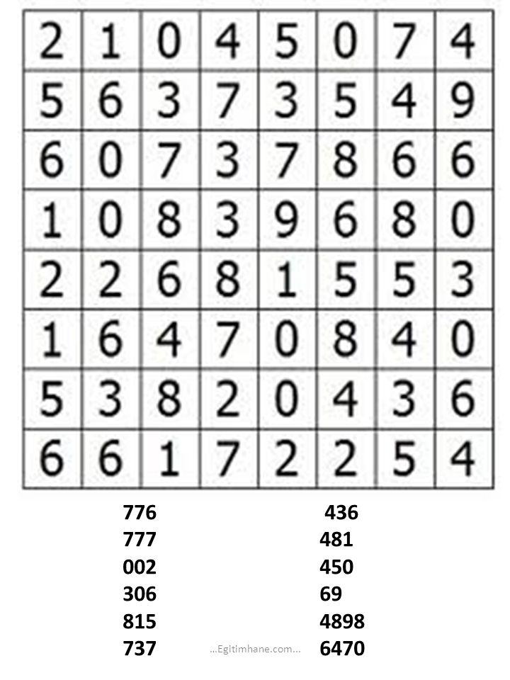 Şekilde en küçük üçgenlerden kaç tane vardır? …Egitimhane.com...