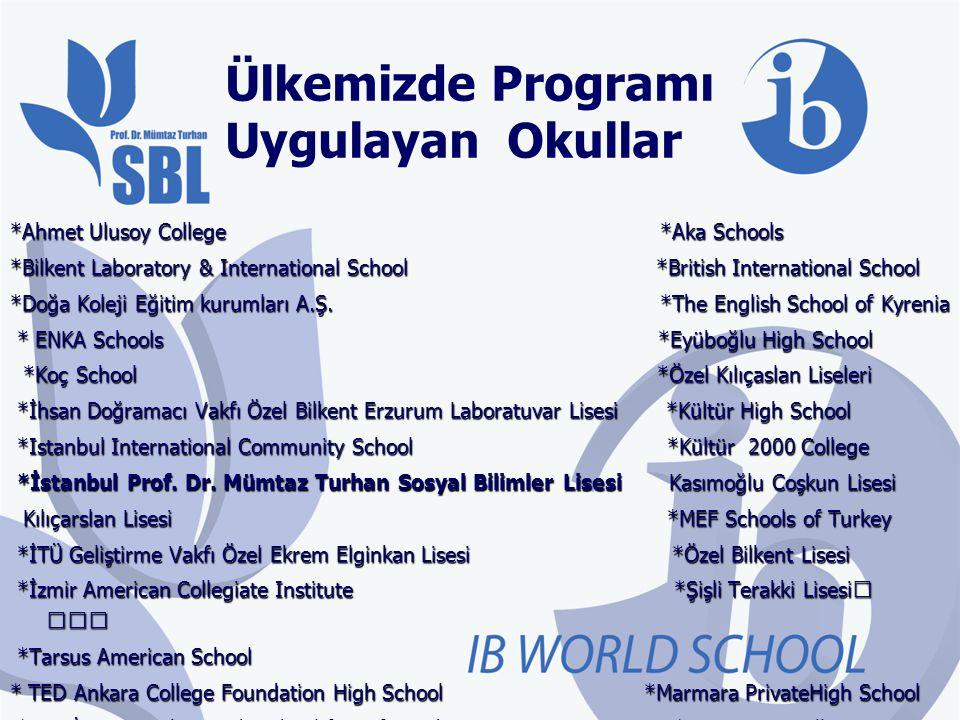 Uluslararası Bakarlorya Diploma Programı (IB DP) Ortaöğretimin son iki yılında olan 11.