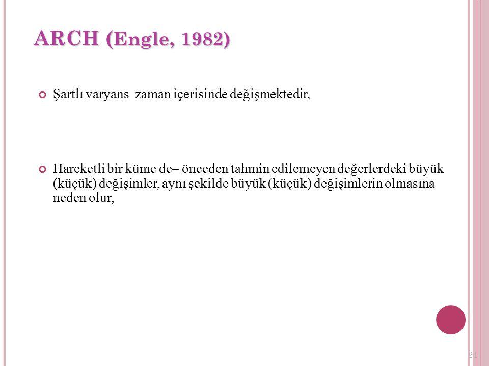 23 Otoregresif Koşullu Farklı Varyans Modeli(ARCH)
