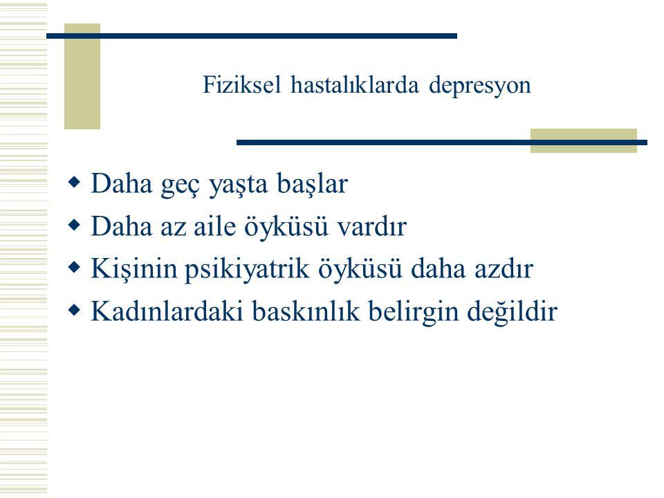 Fiziksel hastalığı olanlarda depresyon ölçütleri Hangi depresyon.
