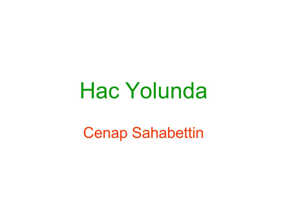 Hac Yolunda Hac Yolunda, Cenap Şahabettin'in görevli olarak gittiği Hicaz ve Mısır yolculuğunu canlı gözlemlerle anlattığı eser, 1886 yılında Servet-i Fünûn dergisinde tefrika edildikten sonra 1909 – 1925 yılları arasında kitap olarak yayımlanmıştır.