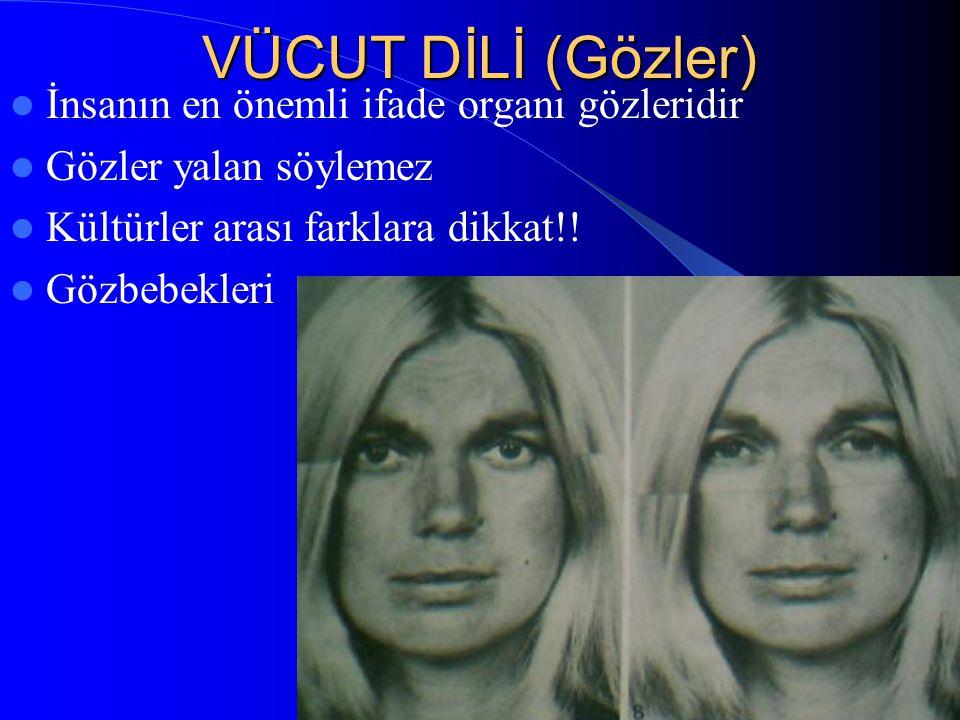 / 5032 VÜCUT DİLİ (Gözler) İnsanın en önemli ifade organı gözleridir Gözler yalan söylemez Kültürler arası farklara dikkat!! Gözbebekleri