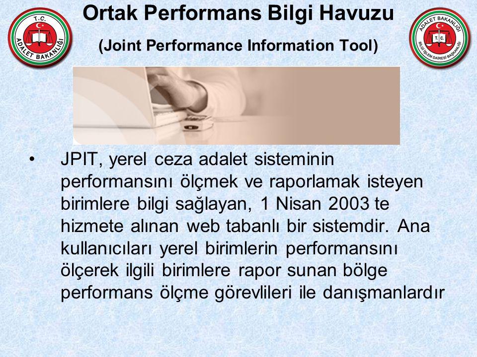 Ortak Performans Bilgi Havuzu (Joint Performance Information Tool) JPIT, yerel ceza adalet sisteminin performansını ölçmek ve raporlamak isteyen birim