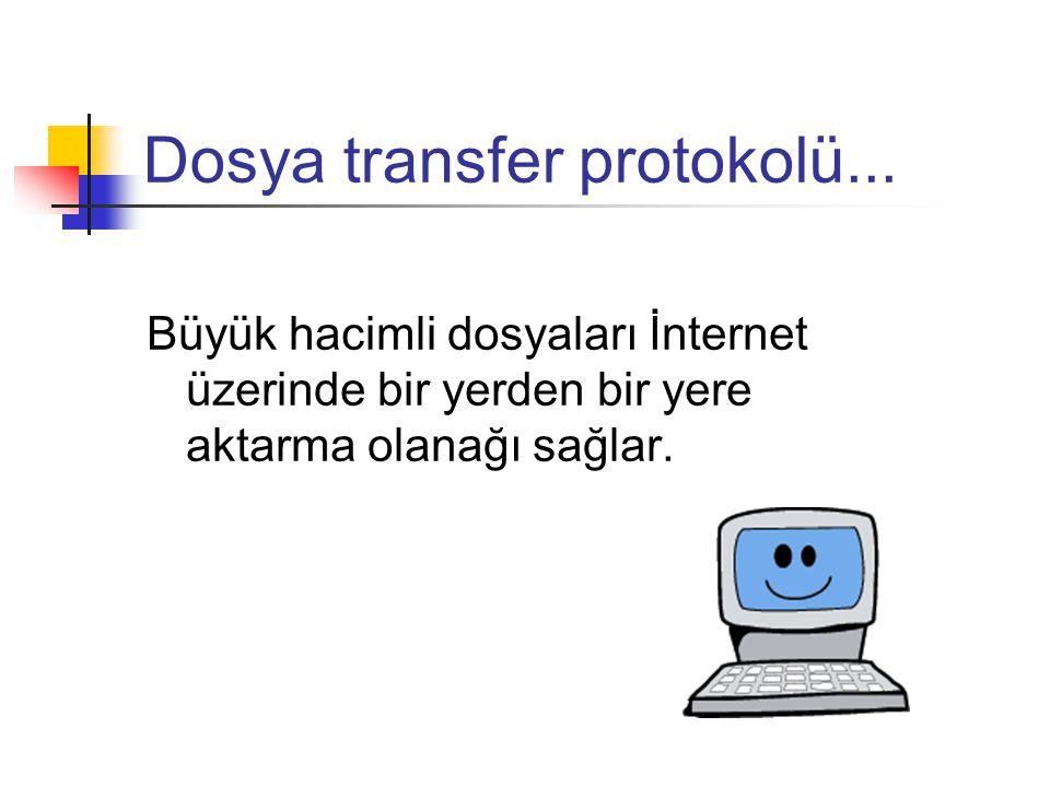 Dosya transfer protokolü...
