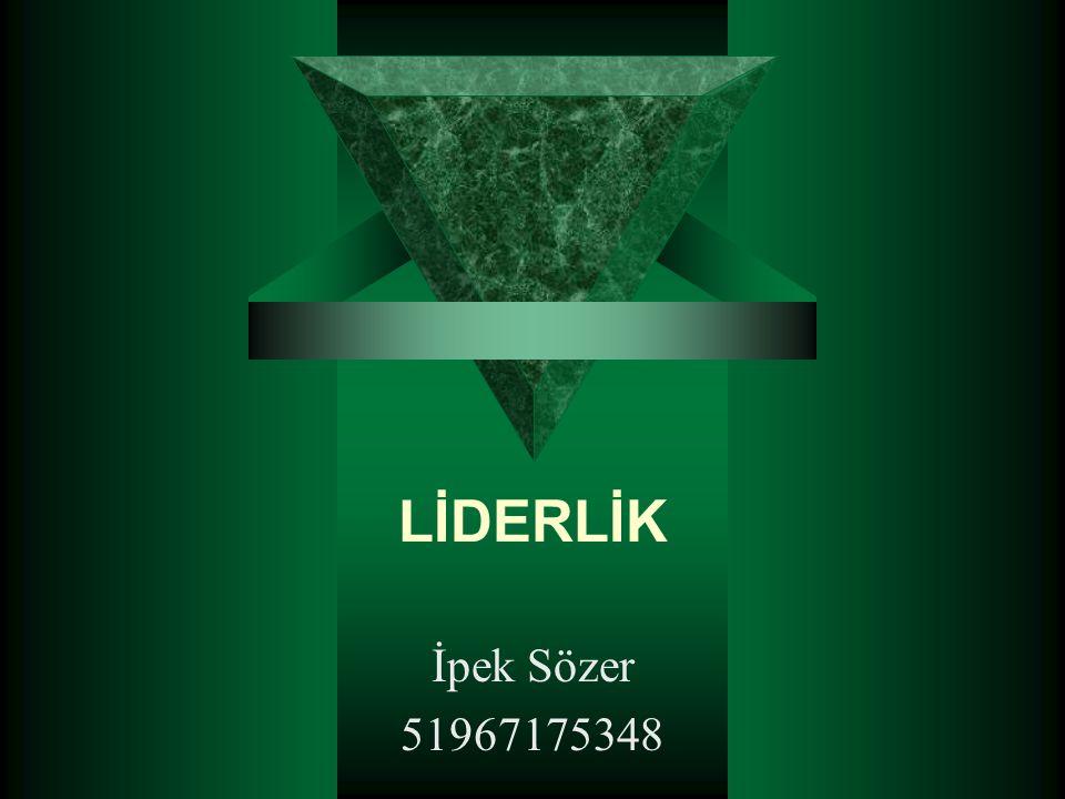 LİDERLİK İpek Sözer 51967175348