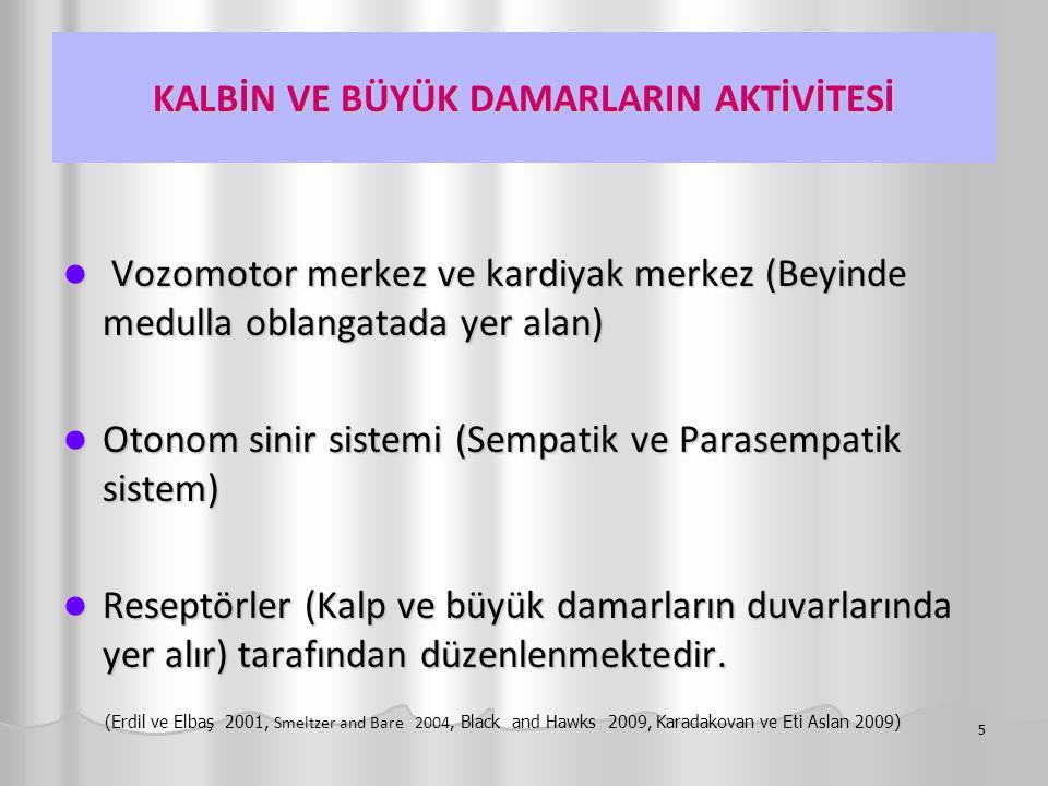 VUCUDUN STRESE TEPKİSİ 36 (Sayek 1991, Erdil ve Elbaş 2001, Smeltzer and Bare 2004, Black and Hawks 2009, Karadakovan ve Eti Aslan 2009)