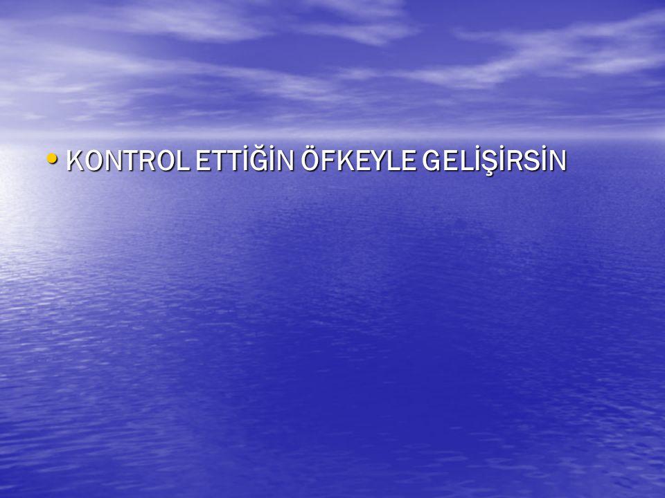 KONTROL ETTİĞİN ÖFKEYLE GELİŞİRSİN KONTROL ETTİĞİN ÖFKEYLE GELİŞİRSİN